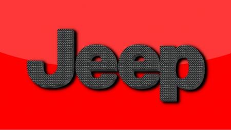 Jeep Carbon fiber logo.