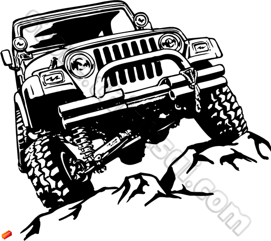 Jeep On A Rock Clipart Clipground