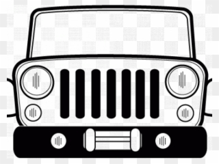 Grill Clipart Jeep Cj.