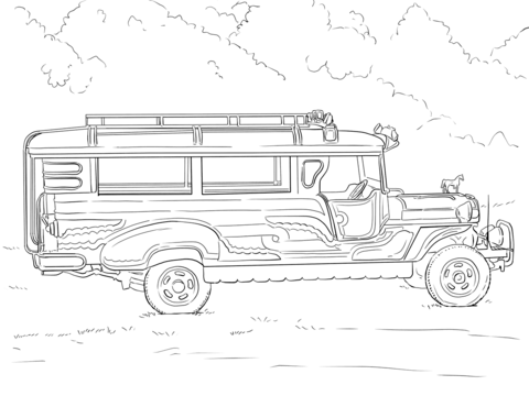 Jeepney clipart black and white 3 » Clipart Station.