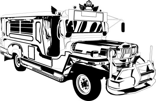 Black And White Jeep Clipart.