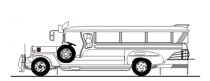 Jeepney black and white clipart 2 » Clipart Station.