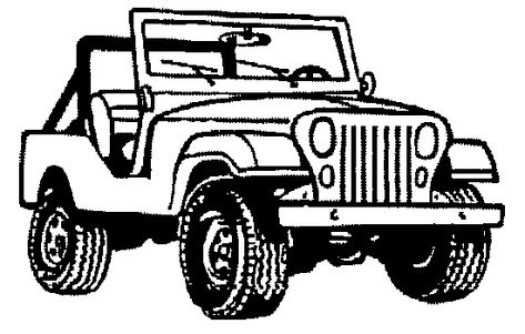 Pics For > Jeepney Clipart Black And White.