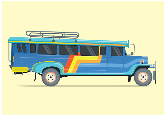 Free Jeepney Illustration Vector.
