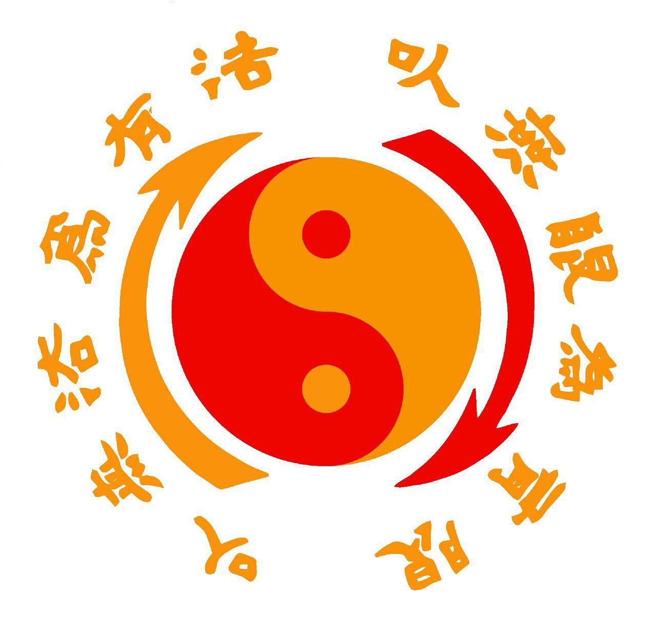 6.5) Bruce Lee\'s Jeet Kune Do logo. The characters translate.