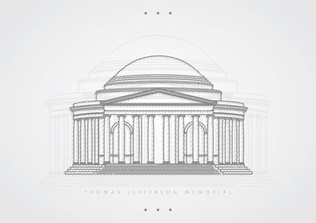 77 Jefferson Memorial Stock Vector Illustration And Royalty Free.