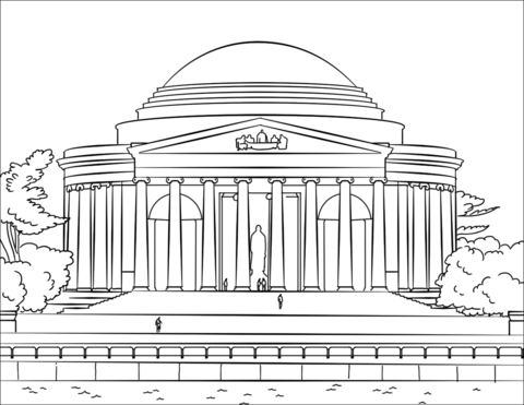 Jefferson Memorial coloring page.