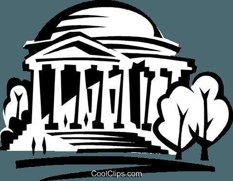 Jefferson Memorial Royalty Free Vector Clip Art illustration.