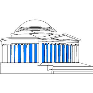 Jefferson Memorial 1 clipart, cliparts of Jefferson Memorial 1.