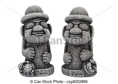 Stock Image of Idols from island Jeju.