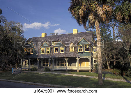 Picture of Jekyll Island, GA, Golden Isles, Georgia, Moss Cottage.