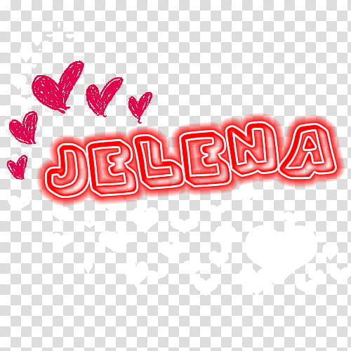 Jelena , brown background with text overlay transparent.