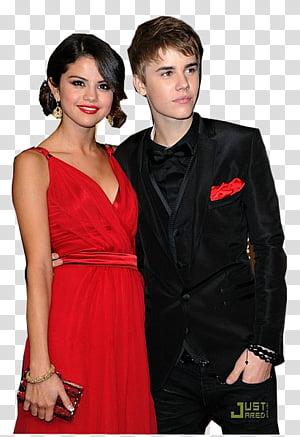 Justin Bieber y Selena Gomez transparent background PNG clipart.