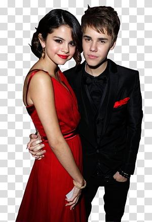 Selena Gomez y Justin Bieber transparent background PNG clipart.
