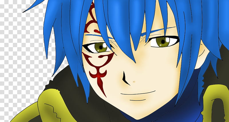 Jellal Smiling, Fairy Tail character illustration.