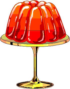 Wobbly jelly clipart.