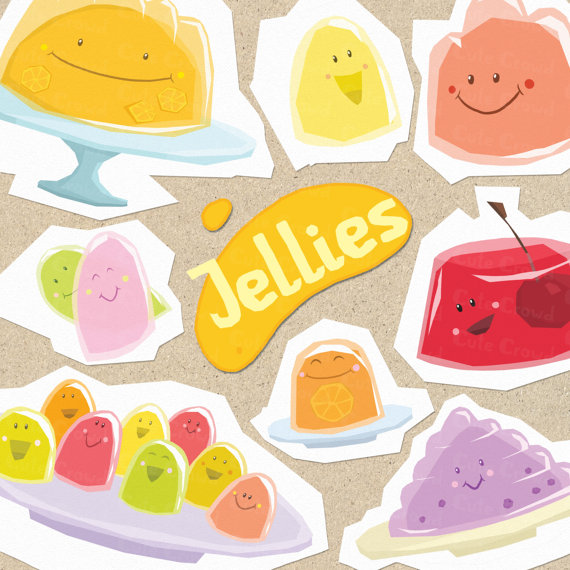 Jellies clip art funny jellies jelly by CuteCrowd on Etsy.