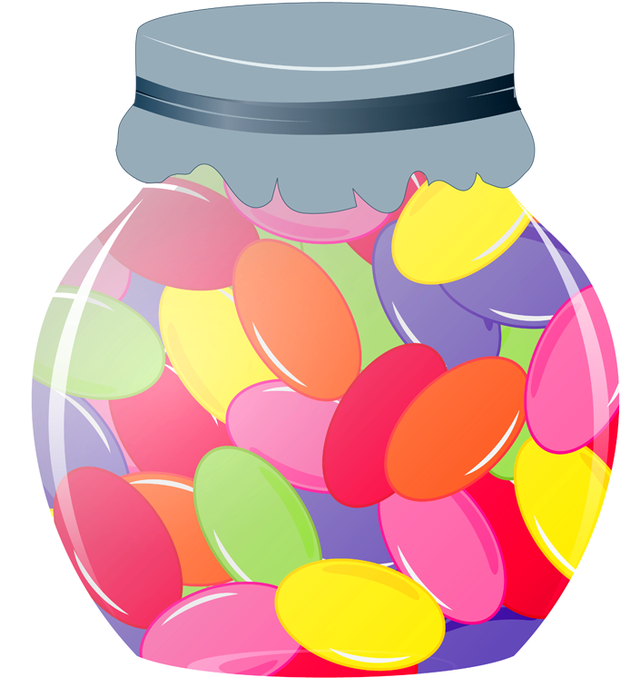 Jelly Bean Jar Clipart.