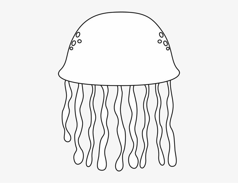 Jellyfish Jelly Fish Outline Clipart Kid.