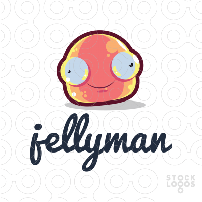 Exclusive Customizable Logo For Sale: Jelly Man.