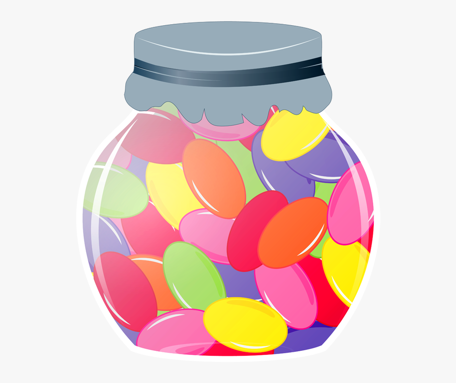 Jelly Bean Jar Clipart.