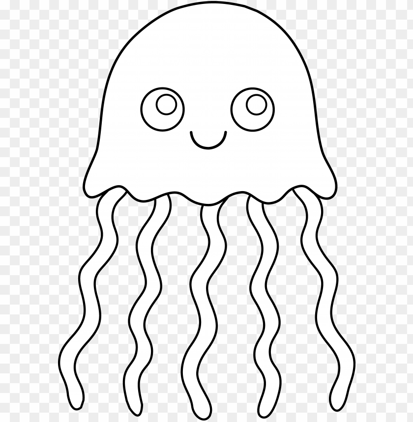 cute colorable jellyfish.