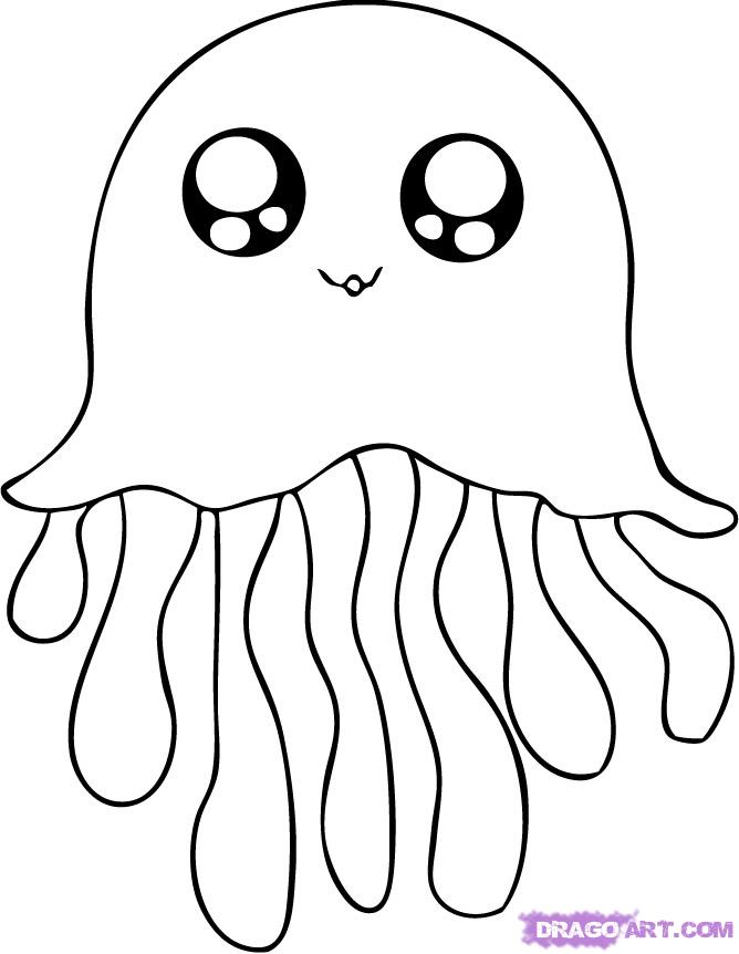 Jelly Fish Coloring Page Classic With Picture Of Jelly Fish 96 #2974.