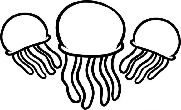 Jellyfish Coloring Pages.