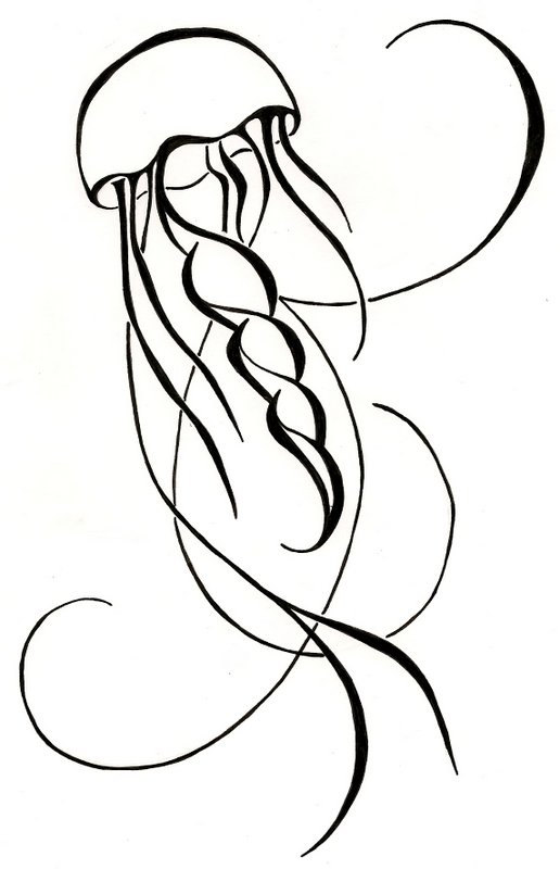 Jellyfish Outline.
