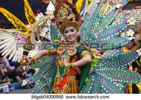 """Stock Photography of """"Elaborate costume at the Jember Fashion."""