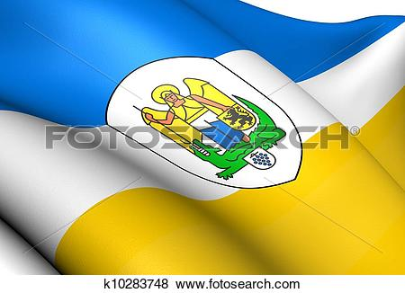 Stock Illustration of Flag of Jena, Germany. k10283748.