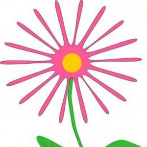 Hd Clipart Light Pink Flower Print Draw.