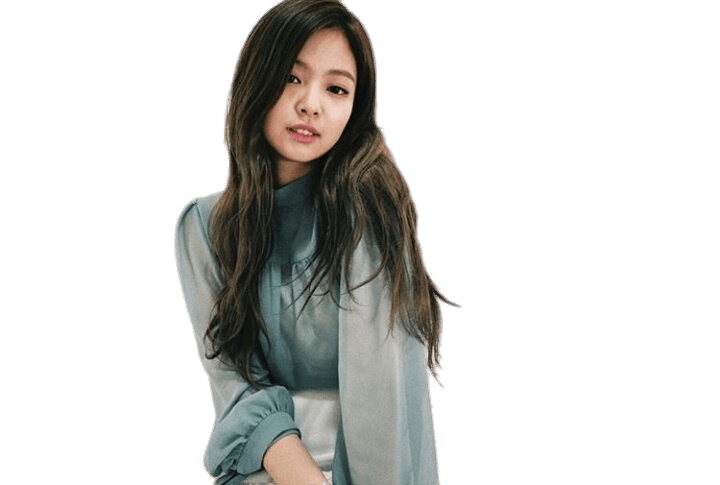 Blackpink Jennie Mousseline Shirt transparent PNG.