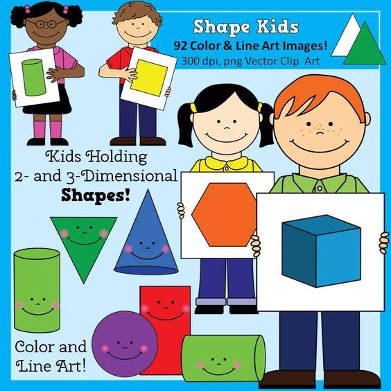 Shape Kids Clip Art.