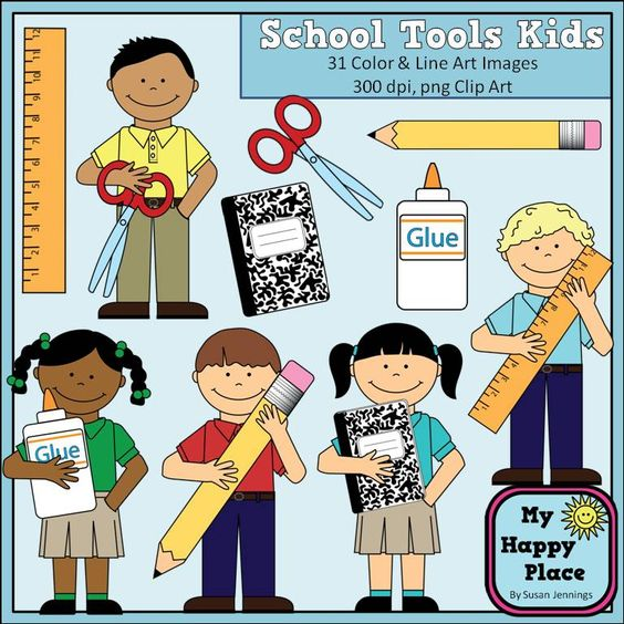 School Kids Clip Art.