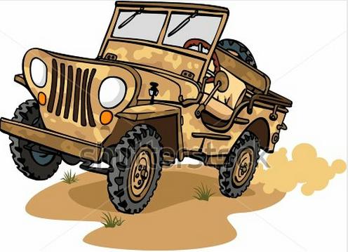 Jungle jeep clipart.