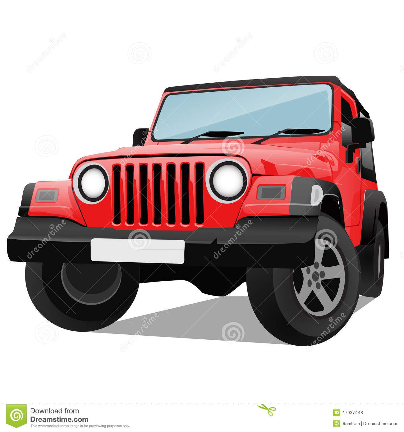 Jeep Stock Illustrations.