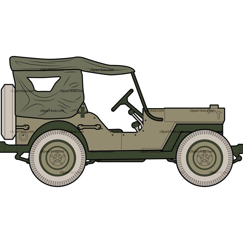 Military jeep clipart.