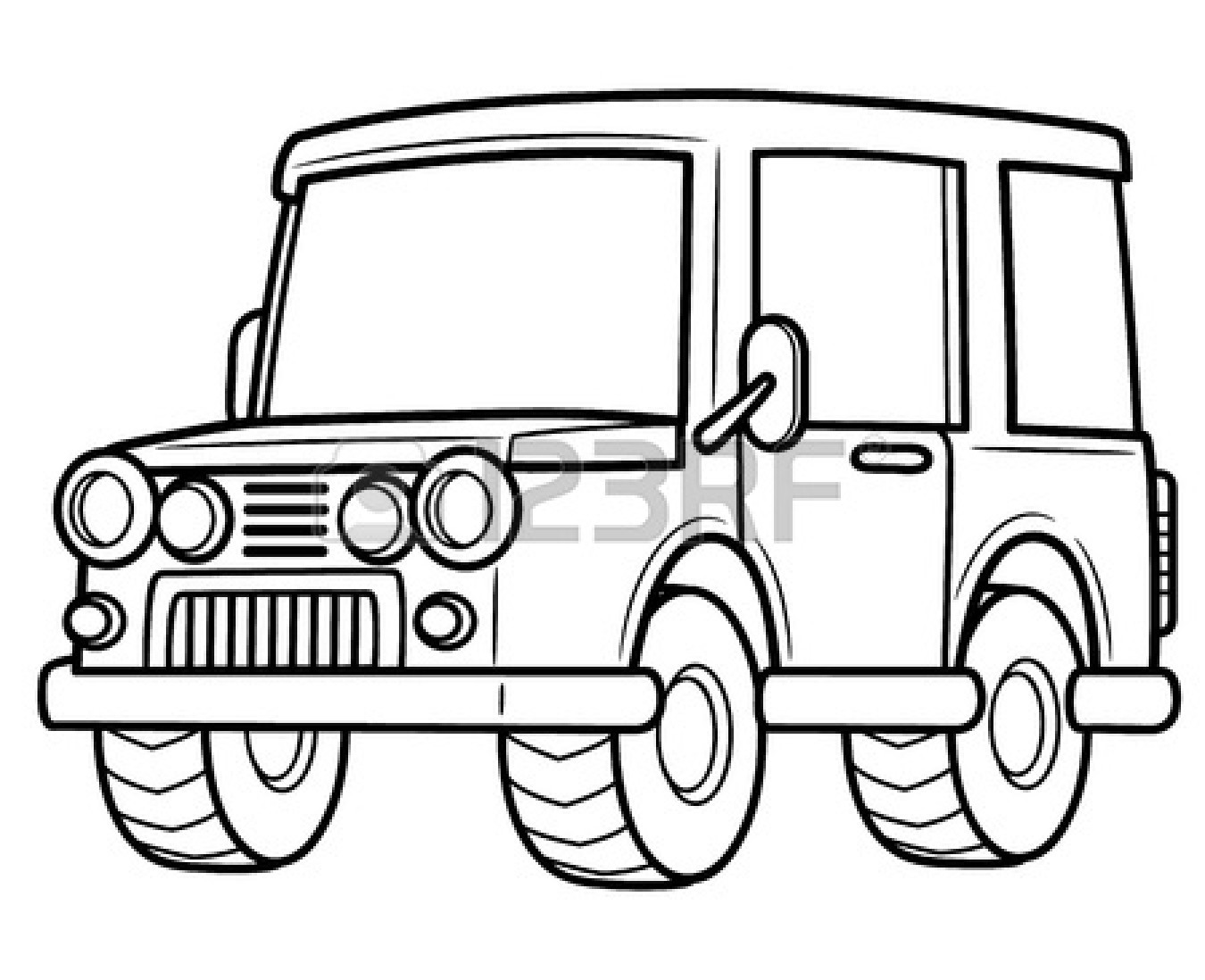 Jeep Clipart Black And White.