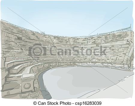 Vectors of Jerash Ampitheater.