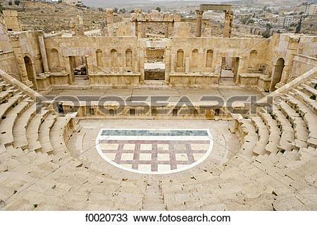 Stock Photo of Jordan, Jerash, Roman theater f0020733.