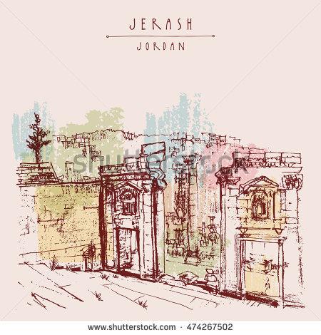 Jerash Stock Photos, Royalty.