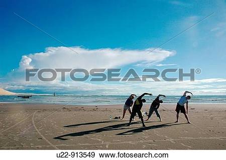 Stock Photograph of Jericoacoara (Ceara, Brazil): tourists.