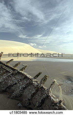 Stock Image of ceara, people, jericoacoara, brazil, person, beach.