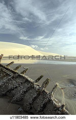 Stock Image of ceara, people, jericoacoara, brazil, person, beach.