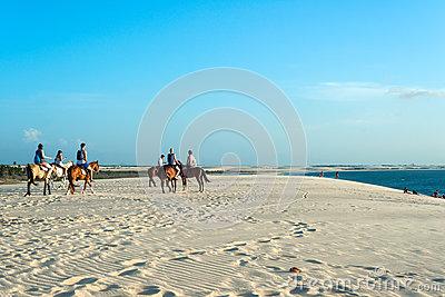 Sunset Dune, Jericoacoara, Ceara State, Brazil Editorial Stock.