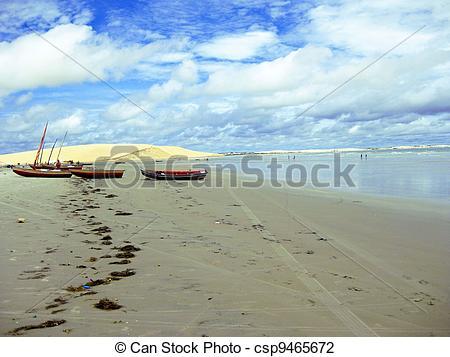 Stock Photo of Jericoacoara Beach.