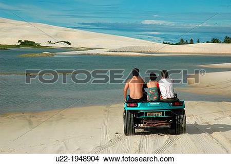 Stock Photo of Tatajuba, CearB, Brazil, dune.
