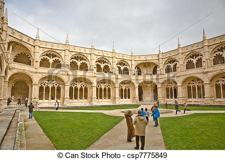 Stock Photographs of monastery Jeronimos in Belem, near Lisbon.