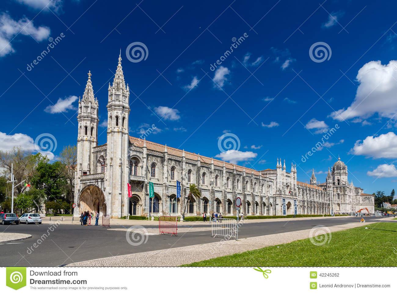 Jeronimos Monastery In Lisbon Royalty Free Stock Photos.